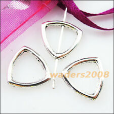 10 New Charms Square Triangle Spacer Frame Beads 15mm Tibetan Silver