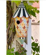 Authentic MacKenzie-Childs Bedazzled Birdhouse Painted Jewels