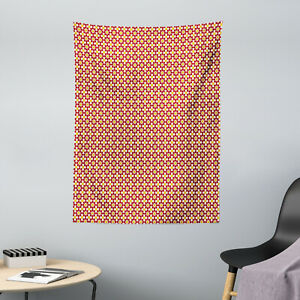 Moroccan Microfiber Tapestry Floral Starry Motif