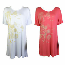 Crew Neck Tunic, Kaftan Floral Tops & Shirts for Women