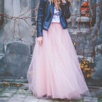 Gonna lunga in tulle 4 strati 8 COLORS long tulle skirt 4 layers