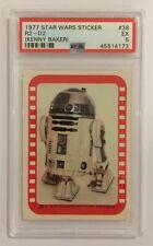 1977 TOPPS STAR WARS STICKER CARD - SERIES 4: GREEN - #38 R2-D2 KENNY - PSA 5