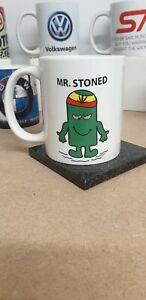 Mr Stoned funny mug weed cannabis marijuana Smokers