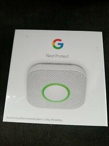 Google Nest Protect 2nd Gen Smoke/Carbon Monoxide 120V Wired Alarm Excellent