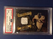 2003 Ray Lewis Playoff Hogg Heaven of Fame Bronze Materials 50/125 SP PSA 9 MINT