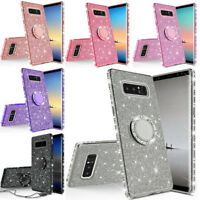 For Samsung Galaxy Note 8 Bling Luxury Glitter Diamond Ring Stand Case Cover