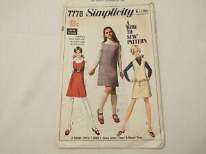 Vintage Simplicity 60s dress pattern No 7778 size 14