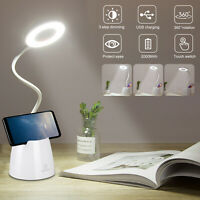 LED Desk Light Bedside Reading Lamp Dimmable Rechargeable Table Touch Control US