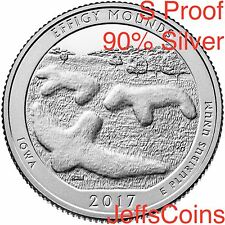 2017 S Effigy Mounds Park Quarter 90% Silver Proof ATB via U.S.Mint Set Iowa
