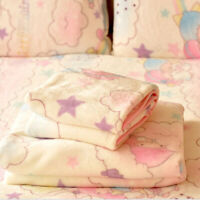 New Sanrio Little Twin Stars Anime Soft Flannel Blanket Throw Plush Smooth Quilt
