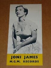 More details for joni james 1952/55 mgm 45/78/ep/lp records flyer