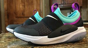 Nike Joyride Nova GS Running Shoes AQ3141 003 Black Purple & Green Size 3.5