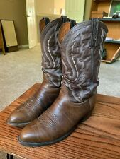 Mens Lucchese 2000 10.5 EE Brown Leather Cowboy Western Boots Sz 2E