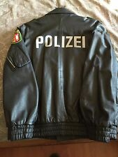 German police officer leather jacket EURO size. 52, US size  42