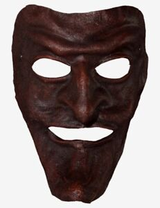 Venetian Mask Brown Leather Pantalone Made In Venice, Italy!