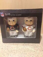 Chicago Bears NFL Ceramic Salt and Pepper Shaker Set, New in Box