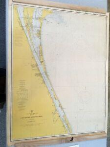 Vintage 1972 Florida Cape Kennedy To Bethel Shoal Nautical Maritime Map