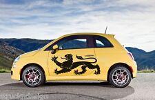 Lion heraldry British Vinyl Decal Hood Door Reflective Sticker Car Fiat Vehicle