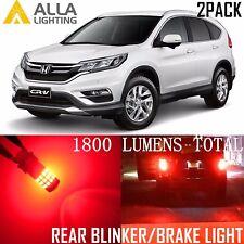 Alla Lighting Turn Signal Light Blinker/Brake 7440NA Red LED Bulb Lamp for Honda