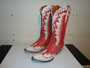 DAN POST cowgirl boots Destress Red Leather Boots 9M