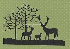 DIE CUTS -  2 X TREES AND REINDEERS SILHOUETTE