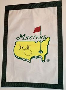 Adam Scott signed Masters flag 2021 masters pga golf psa dna loa
