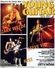Young Guitar Apr/97 Zakk Wylde Vai Stratovarius Nuno Schenker Gibson V Poster