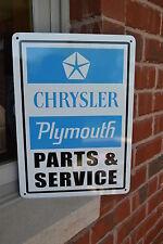 Plymouth Chrysler Blue Parts Service SIGN GTX Mopar Hemi Dodge Mechanic Shop 10d