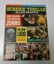 1964 SCREEN THRILLS ILLUSTRATED #9 FN+ Alan Ladd ZORRO Buck Jones SUPER HEROES
