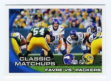 "BRETT FAVRE 2010 TOPPS CLASSIC MATCHUPS ""FAVRE VS PACKERS"" CARD"