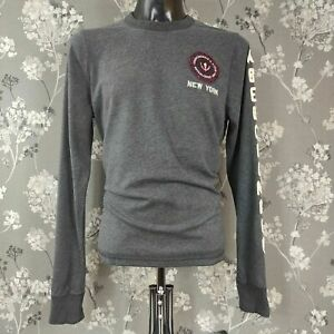 ABERCROMBIE AND FITCH SPELLOUT LOGO RETRO LOOK SWEATSHIRT. SIZE XL
