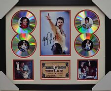MICHAEL JACKSON SIGNED FRAMED MEMORABILIA LIMITED EDITION