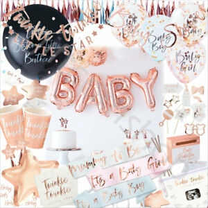 Rose Gold OH BABY Baby Shower Party Supplies Tableware Decorations Gender Reveal