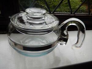 pyrex glass tea pot 6 cups. used vintage