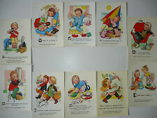 Lot  10  Cartes Postales   MABEL  LUCIE  ATTWELL   Valentine