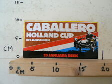 STICKER,DECAL REEK 20 JANUARI HOLLAND CUP INT. ZIJSPANNEN , SIDECARS MX CABALL A