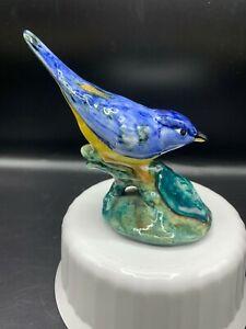 VTG STANGL  POTTERY PARULA  WARBLER # 3582 BIRD  SIGNED