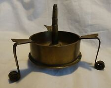 WWII Japanese Shell Trench Art Ashtray Coil Footed Brass Stylish Deco Style