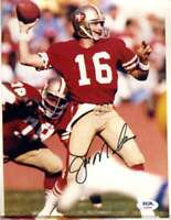 Joe Montana PSA DNA Coa Hand Signed 8x10 Photo Autograph