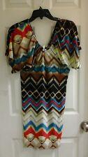 Cristina love Junior girl's size small multi color, tight body fit dress NWT $50