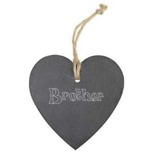 'Brother' Slate Heart Hanging Decoration (HE00003855)