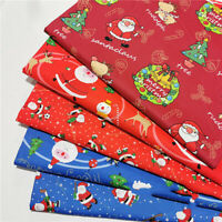 160CM Christmas Cotton Fabric Cartoon Santa Patchwork Clothing Sewing Craft DIY