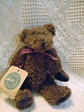"""Boyds ASQUITH ~ issued 1993 ~8""""  brown scruffy chenille bear"""