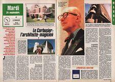 Coupure de presse Clipping 1987 Charles Edouard Jeanneret Le Corbusier (2 pages)