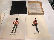 Schenley Imports Dewar's White Label Regimental Prints Series  26 In All ***