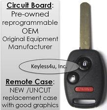 uncut key remote transmitter clicker control entry auto car fob Honda MLBHLIK1T
