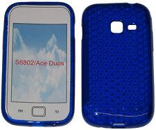 Per SAMSUNG GALAXY ACE DUOS GT S6802 modello Soft Gel Custodia Protettiva Cover Blu