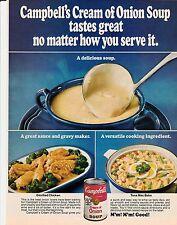 Original 1976 Campbell's Cream Of Onion Soup Magazine Ad