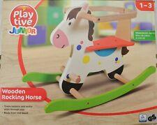Schaukelpferd aus Holz Schaukel Pferd Baby Schaukelspielzeug Schaukeltier - Neu