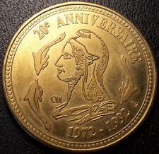 Jeton numismatique échange 20ème anniversaire 1972 - 1992 - écu